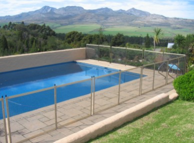 safety pool fence beige